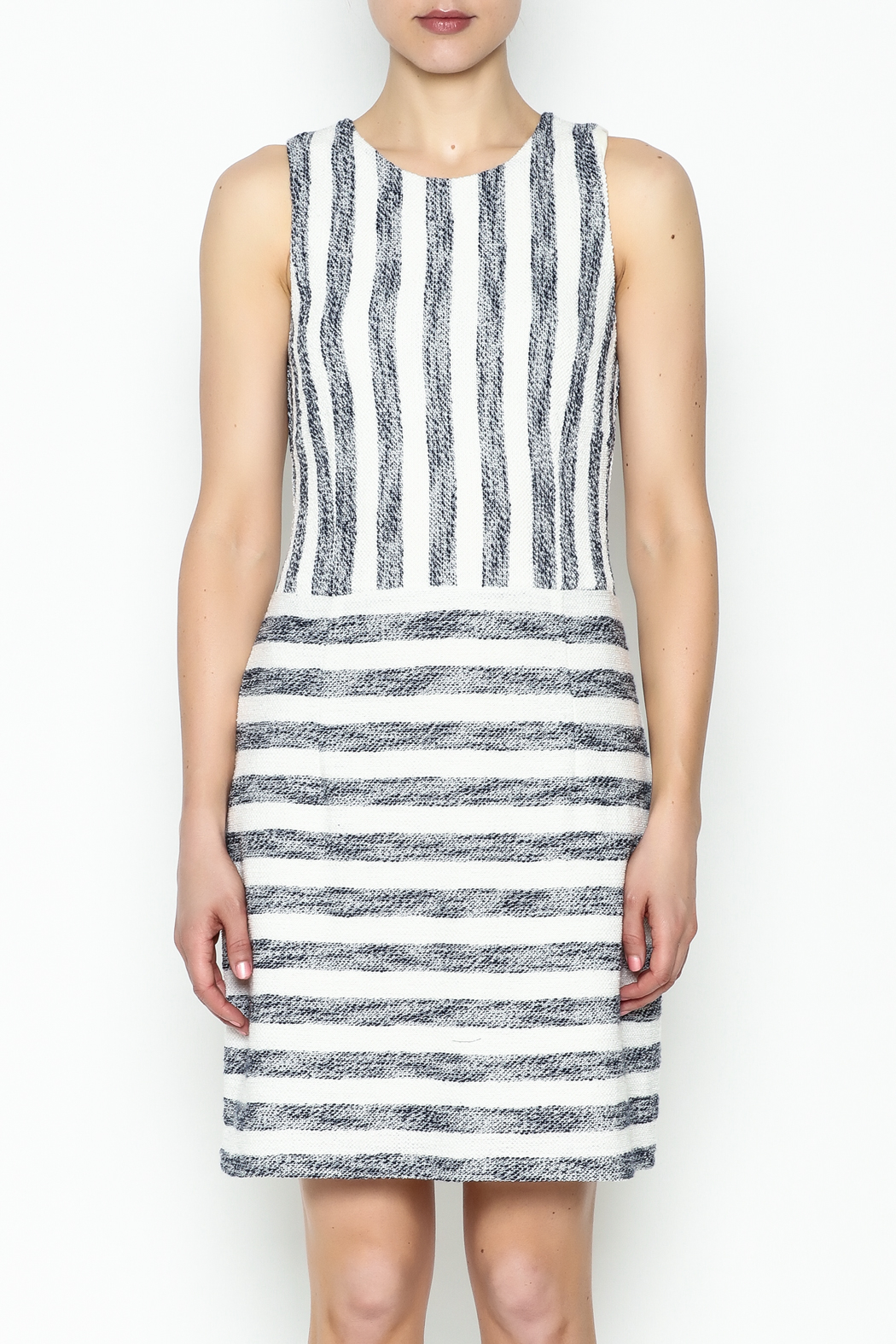 Julie Brown NYC Sailor Tweed Dress - Front Full Image