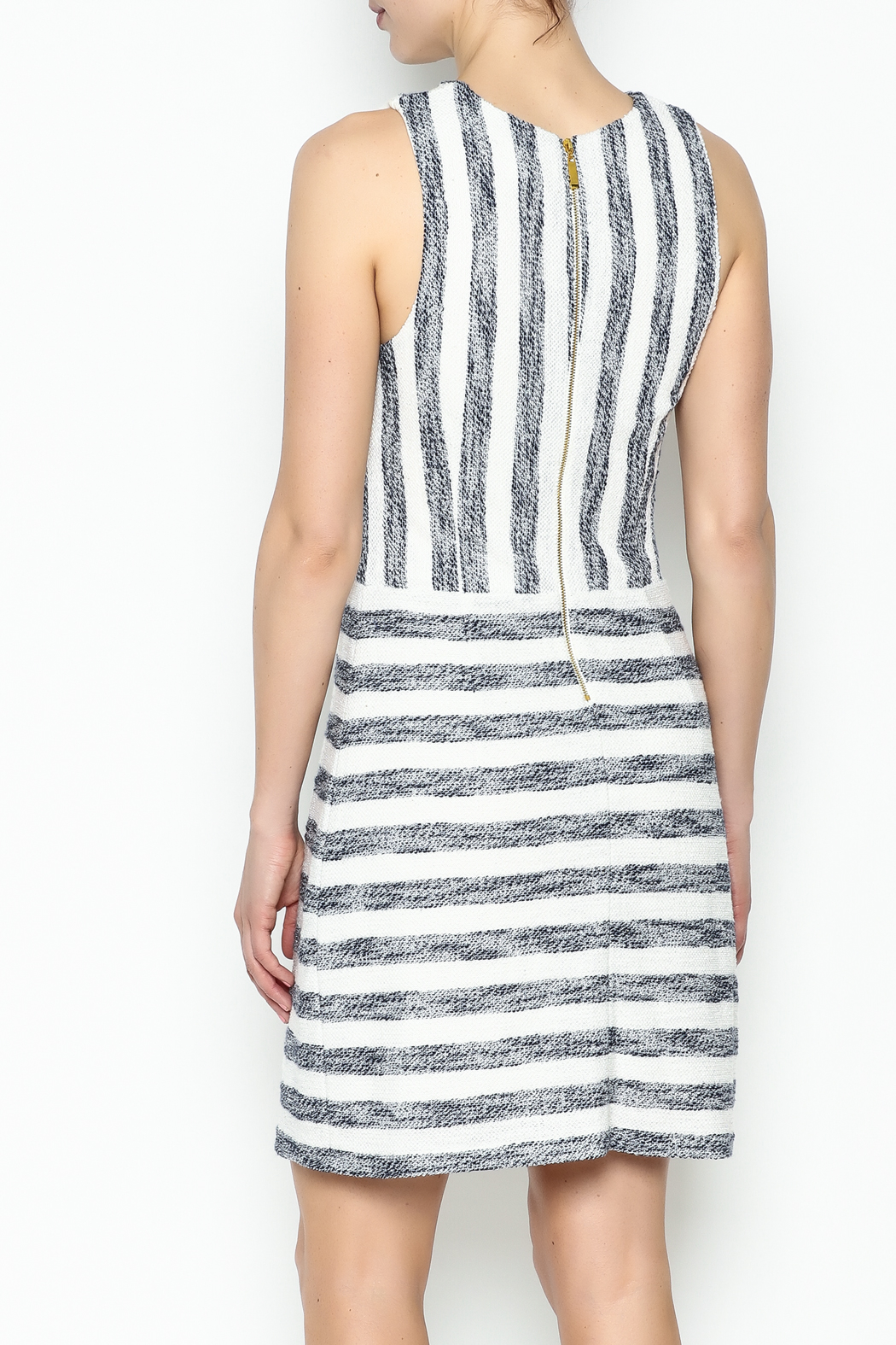 Julie Brown NYC Sailor Tweed Dress - Back Cropped Image