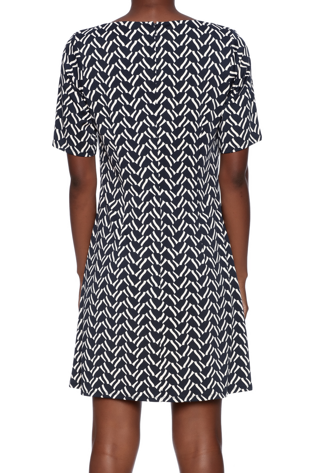 Julie Brown NYC Short Sleeve Dress - Back Cropped Image
