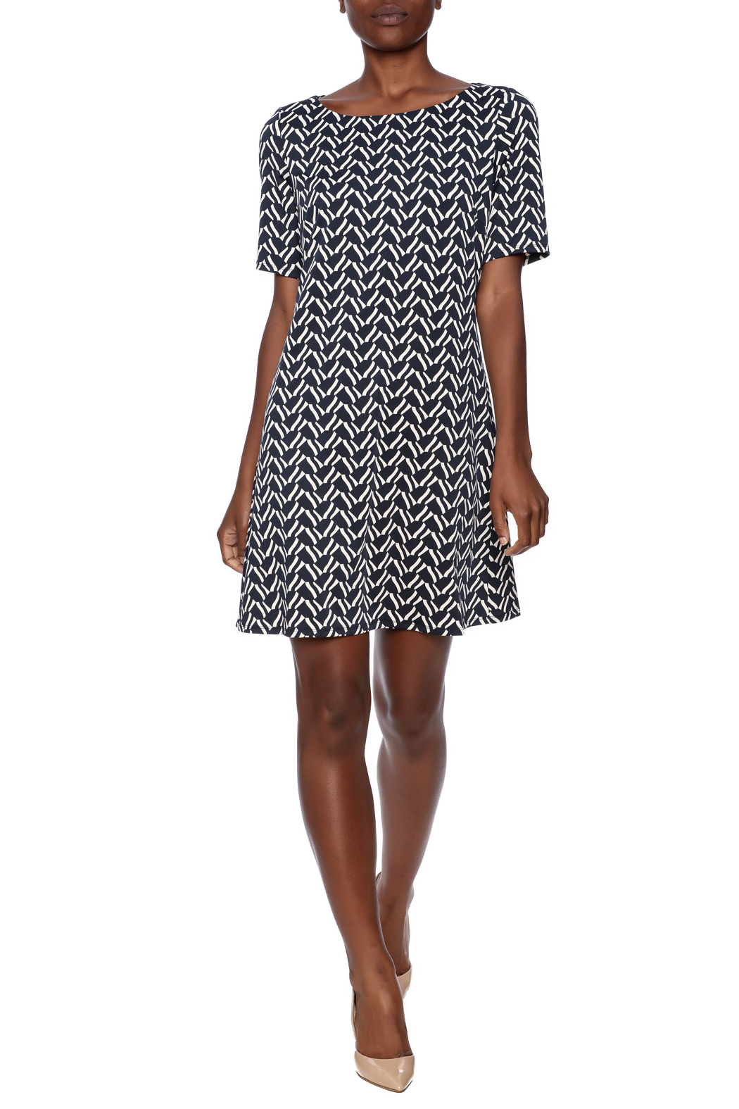 Julie Brown NYC Short Sleeve Dress - Front Full Image