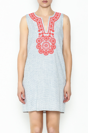 Julie Brown NYC Washed Pinstripe Renee Dress - Front full body