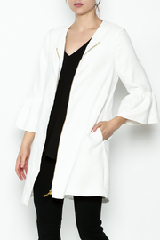 Julie Brown NYC White Wash Suede Jacket - Product Mini Image