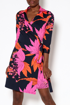 Julie Brown NYC Navy Wrap Dress - Product List Image