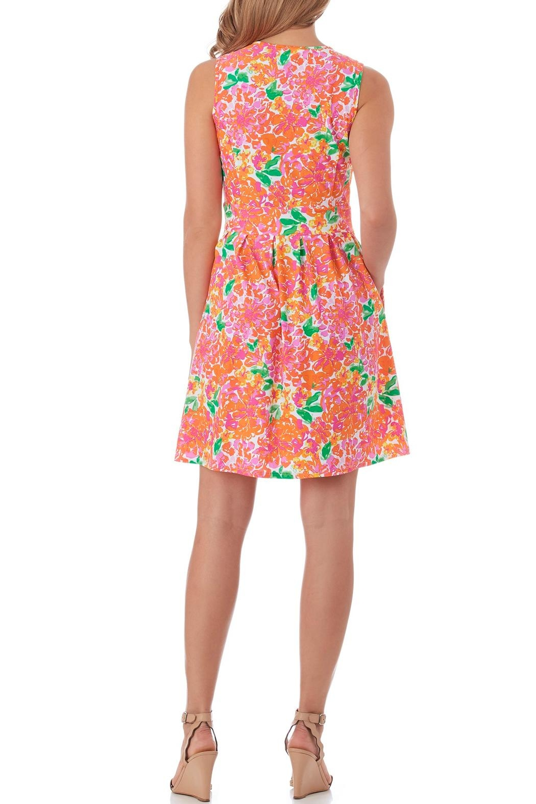 Jude Connally Julie Fit-n-Flare Dress - Front Full Image