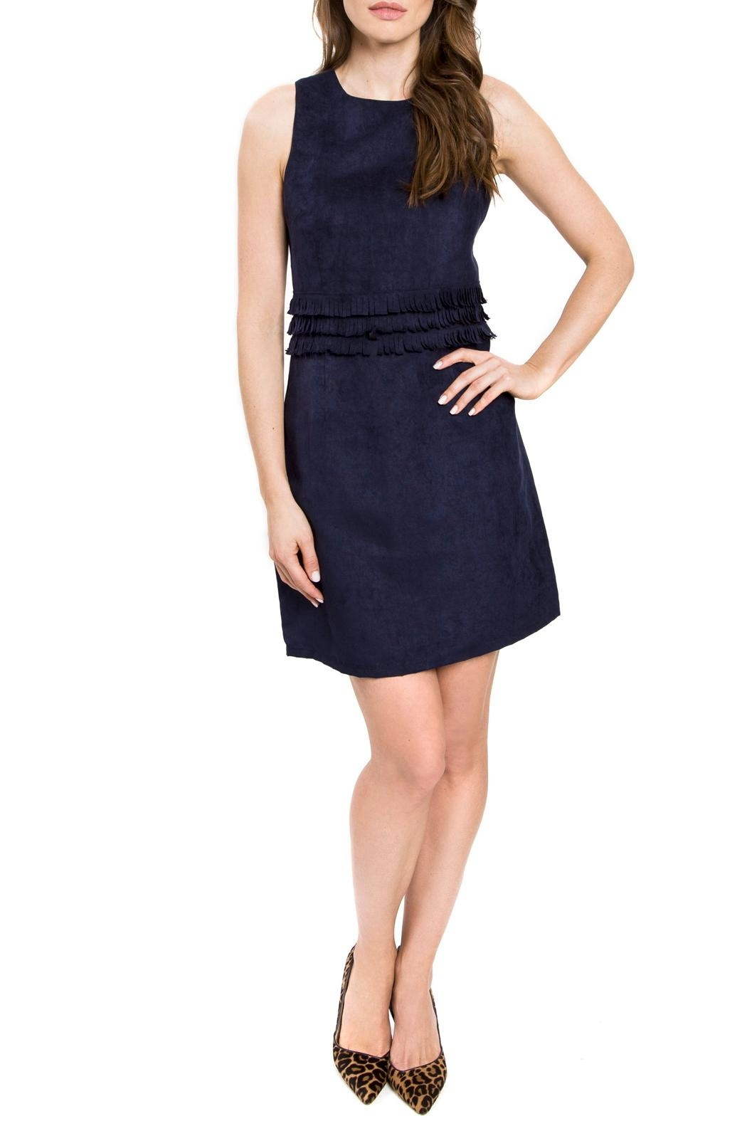 Julie Brown Lori Faux Suede Dress - Front Cropped Image