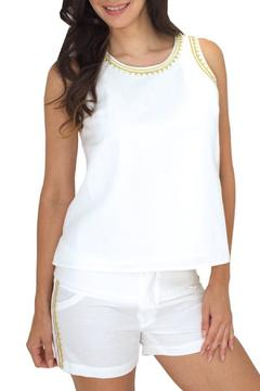 Julie Brown Designs Faita Top Ivory - Product List Image