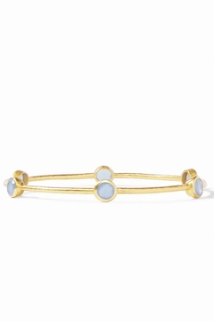 Julie Vos Milano Bangle-Chalcedony Blue - Product List Image