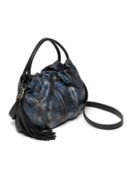 laggo  Juliet Navy Snake Crossbody - Front full body