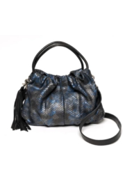 laggo  Juliet Navy Snake Crossbody - Front cropped