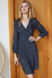 Emerson Fry JULIETTE WRAP DRESS - Product Mini Image