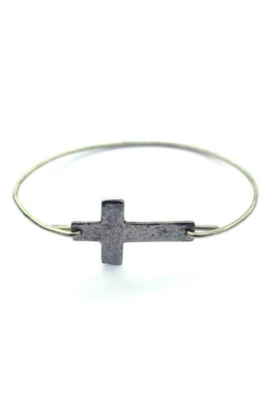Julio Designs Wire Cross Bangle - Front Cropped Image