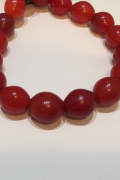 Bella Beads Jumbo Red Tribal Beads from Africa - Product List Image