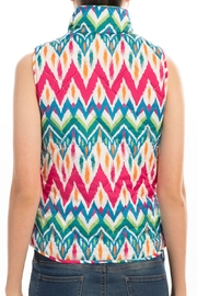 Peach Love California Quilt Zip Vest - Side cropped