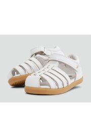 Bobux Jump White Sandals - Front cropped