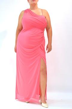 Jump Apparel Coral One-Shoulder Gown - Product List Image