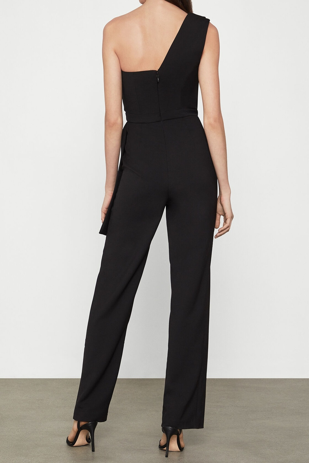 BCBG MAXAZRIA Jumpsuit With Faux Leather Trim - Front Full Image
