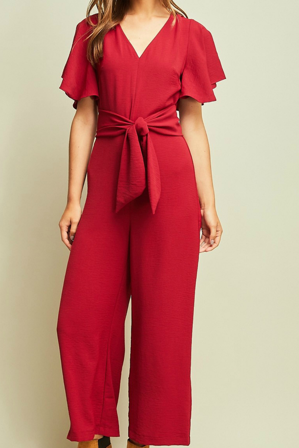 7908d88b29bfb Entro Jumpsuit with Tie from New York by Gado-Gado — Shoptiques
