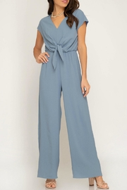 She + Sky Jumpsuit With Tie - Product Mini Image