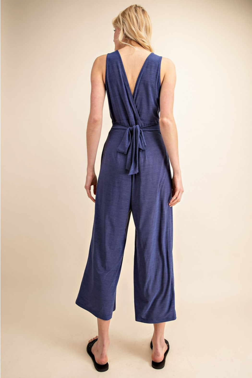 Gilli  Jumpsuit with Tie waist - Back Cropped Image