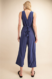 Gilli  Jumpsuit with Tie waist - Back cropped