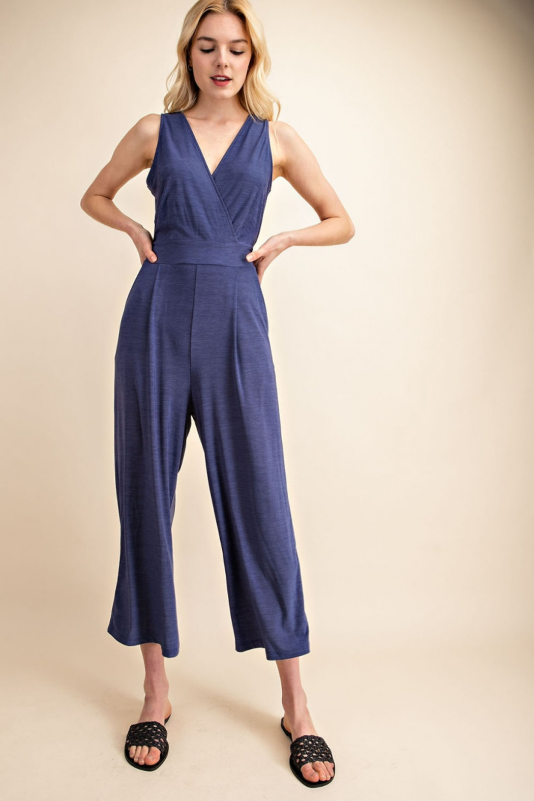 Gilli  Jumpsuit with Tie waist - Front Full Image