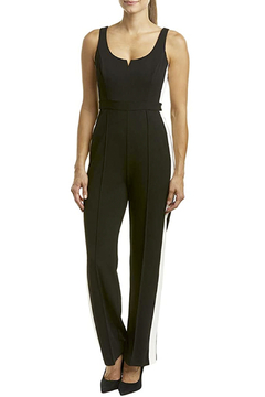 Donna Morgan Jumpsuit with White Side Stripes - Product List Image