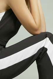 Donna Morgan Jumpsuit with White Side Stripes - Other
