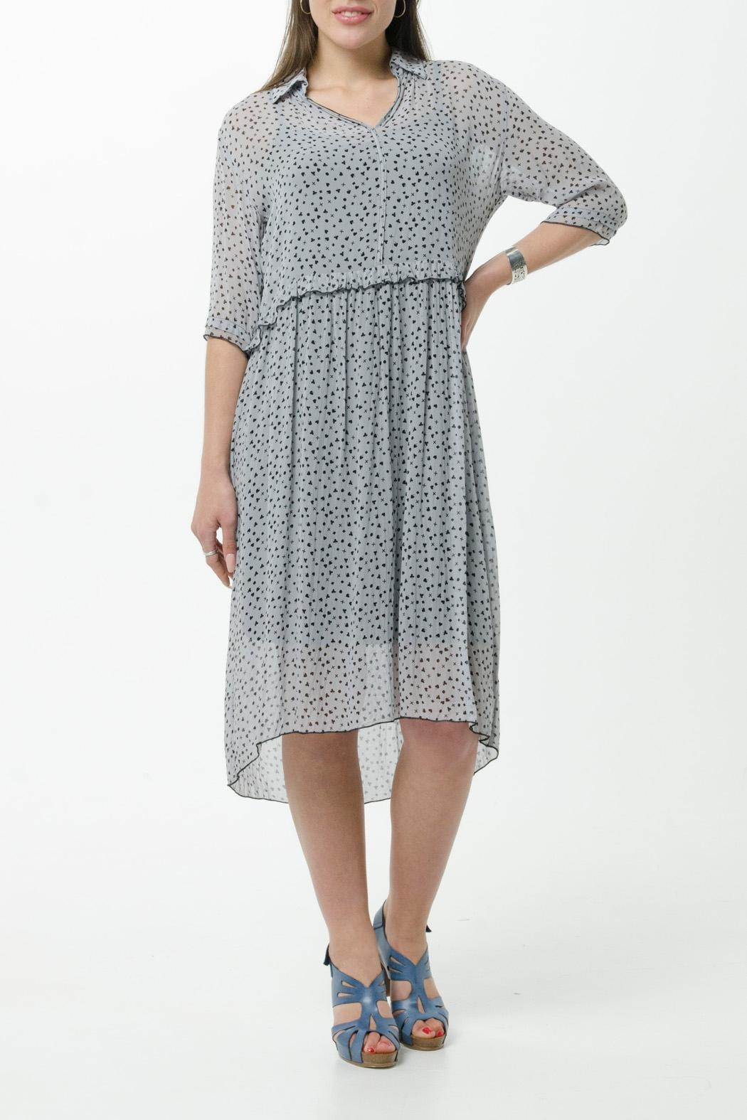 JUNA Viscose  Print Dress - Front Cropped Image