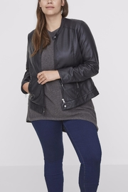 JUNAROSE Navy Moto Jacket - Product Mini Image