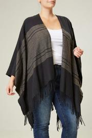 JUNAROSE Striped Poncho - Product Mini Image