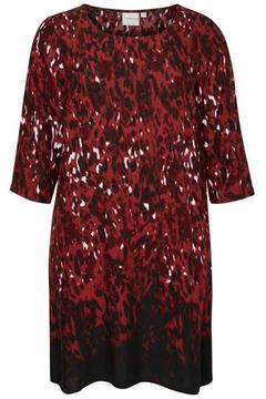 JUNAROSE Printed Red Dress - Alternate List Image