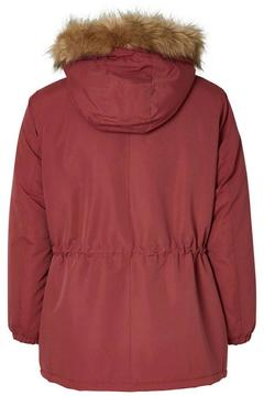JUNAROSE Faux Fur Merlot Parka - Alternate List Image