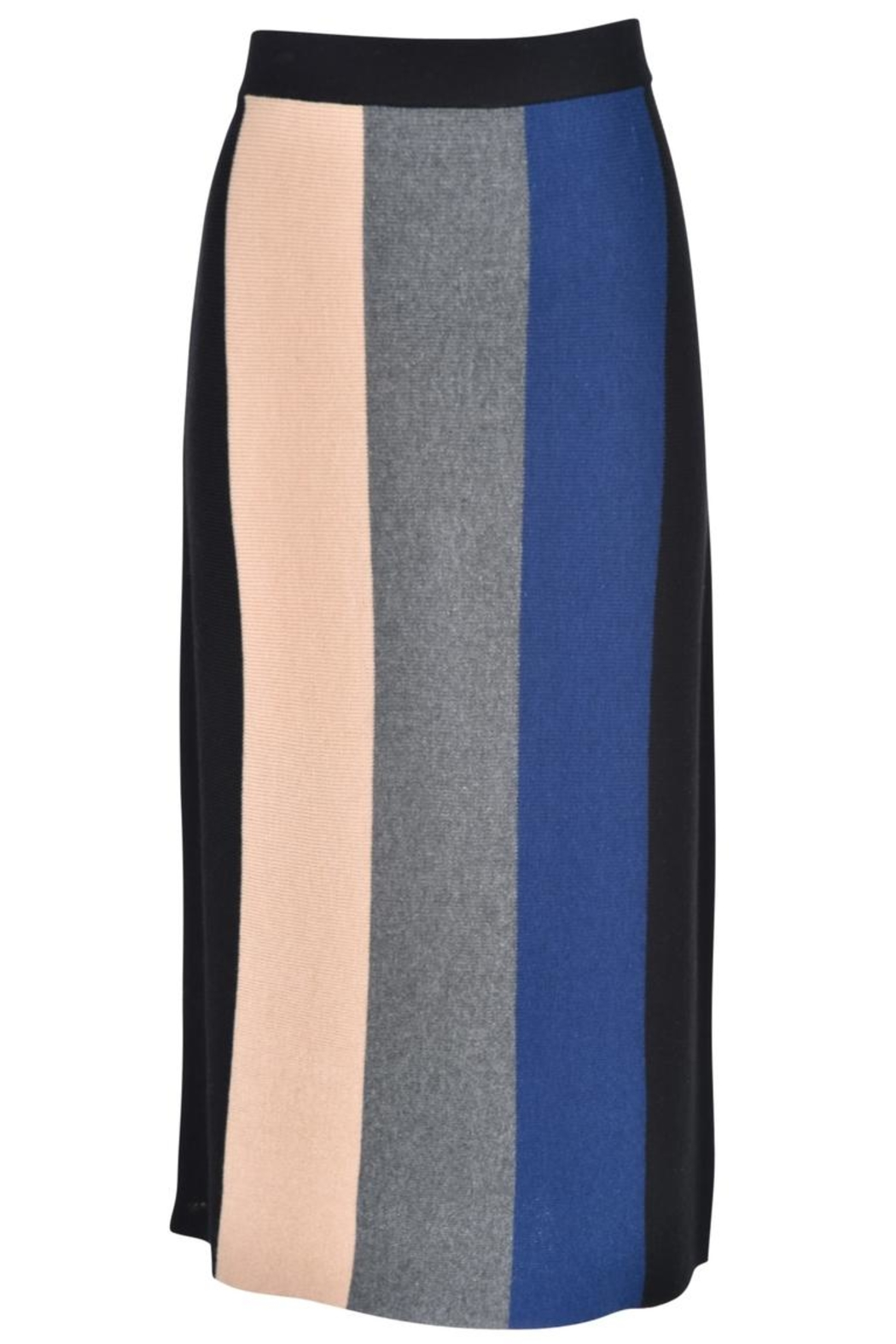 junee Banded Colored Skirt - Main Image