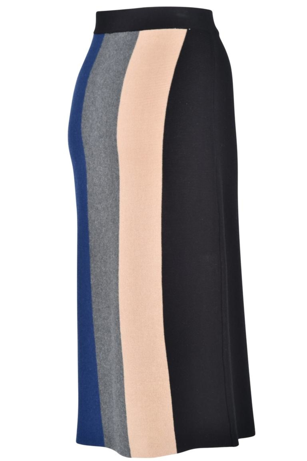 junee Banded Colored Skirt - Front Full Image