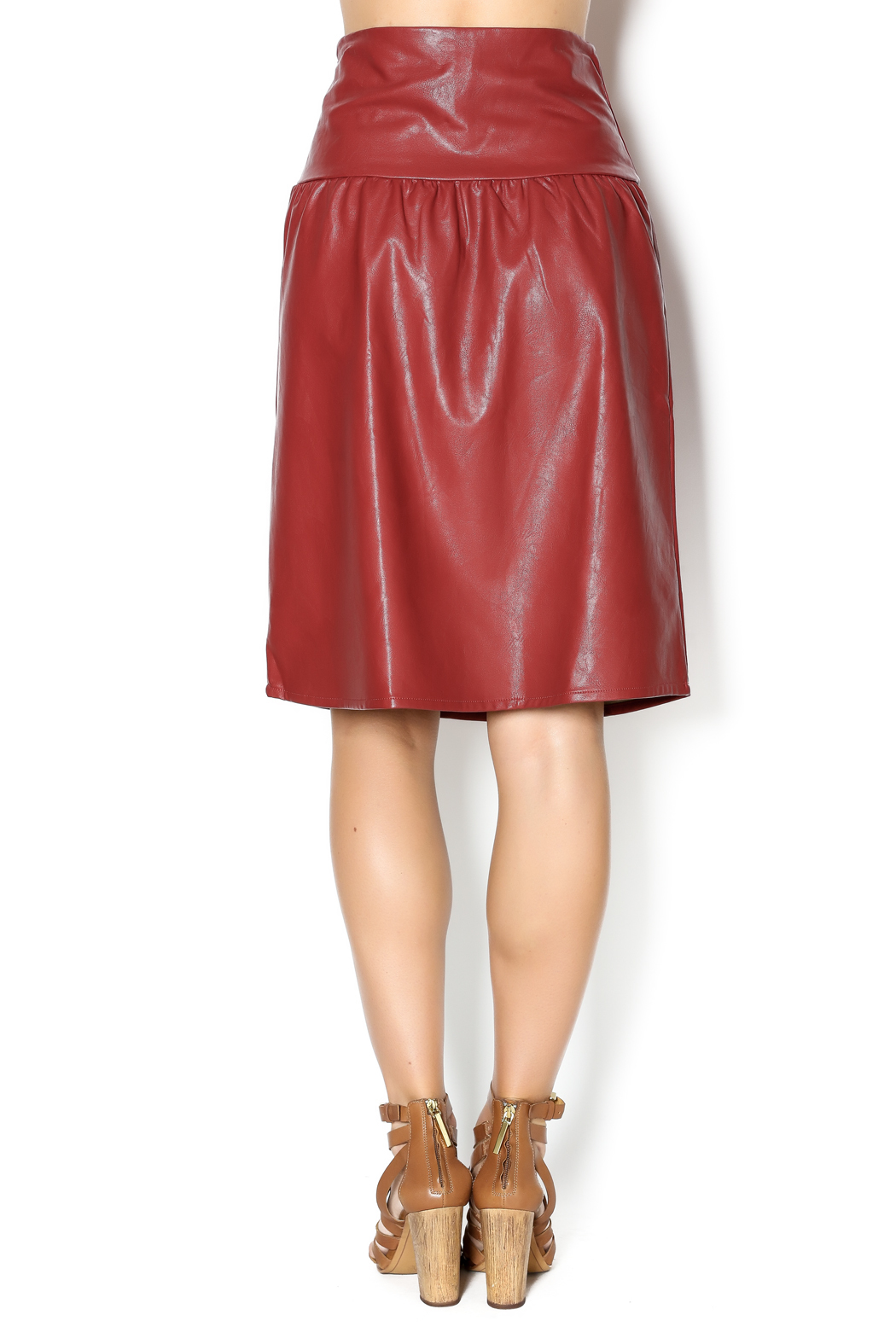 junee Faux Leather Skirt - Back Cropped Image
