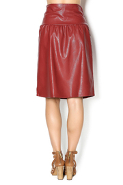 junee Faux Leather Skirt - Back cropped