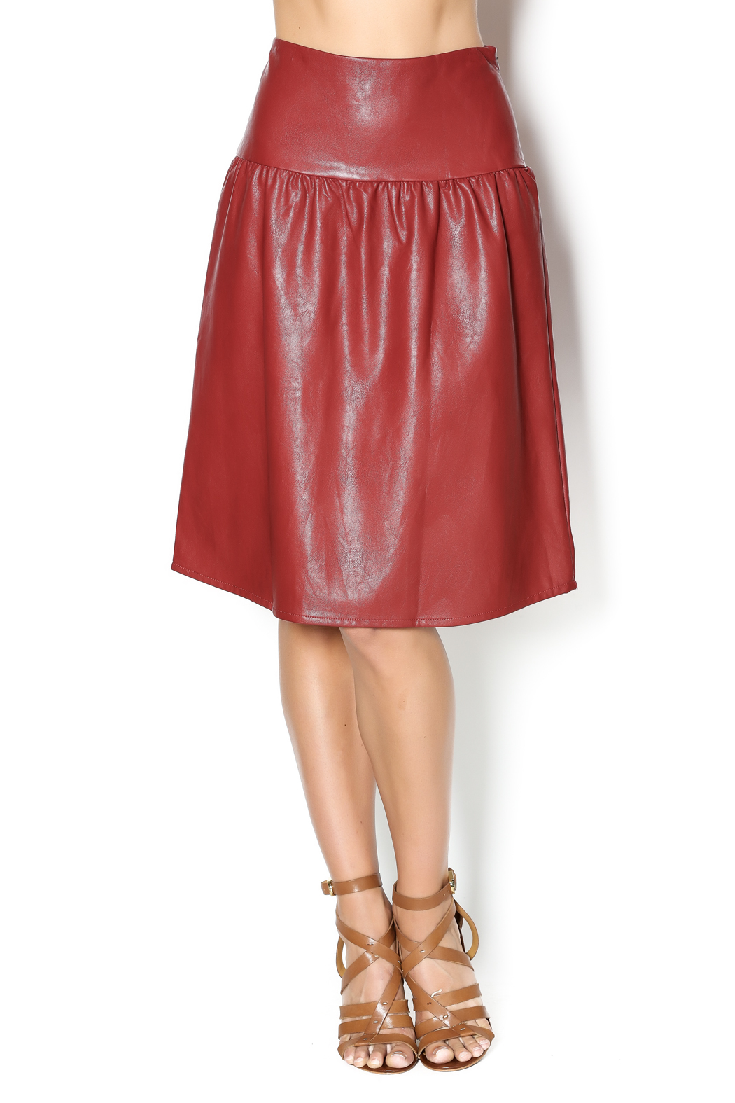junee Faux Leather Skirt - Main Image
