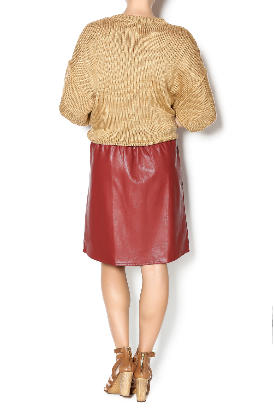 junee Faux Leather Skirt - Side Cropped Image