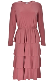 junee Pink Ruffled Dress - Front cropped