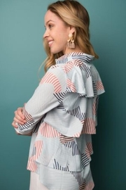 junee Ruffled Back Blouse - Product Mini Image