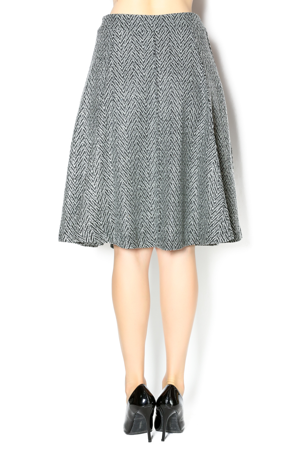 junee Wool Chevron Skirt - Back Cropped Image