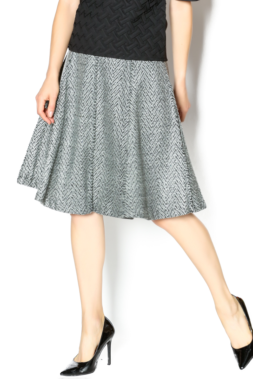 junee Wool Chevron Skirt - Front Cropped Image