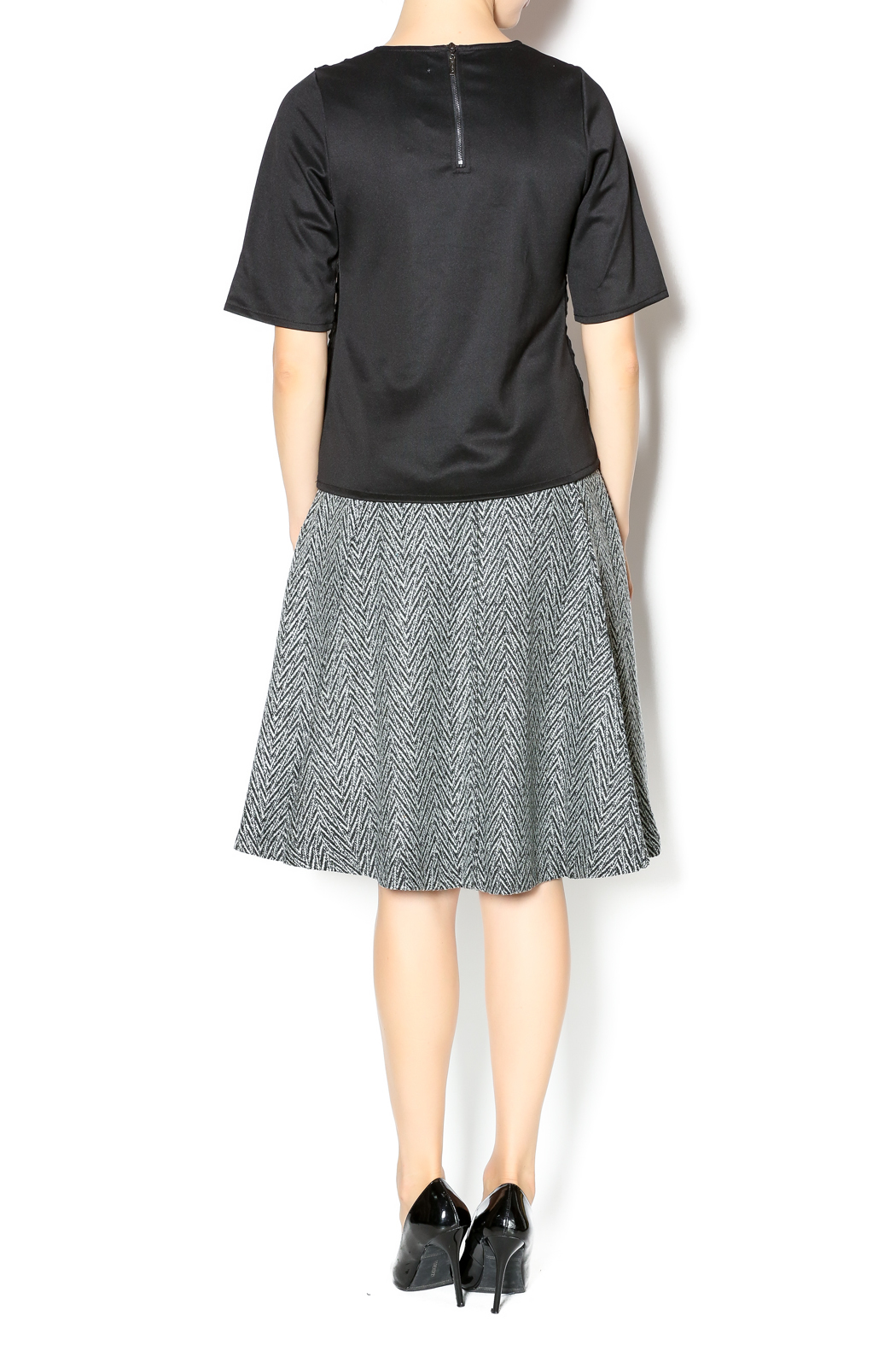 junee Wool Chevron Skirt - Side Cropped Image