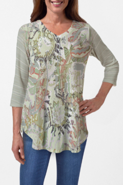 Whimsy Rose Jungle Escape Butterknit V-neck Flowy Tunic - Product List Image