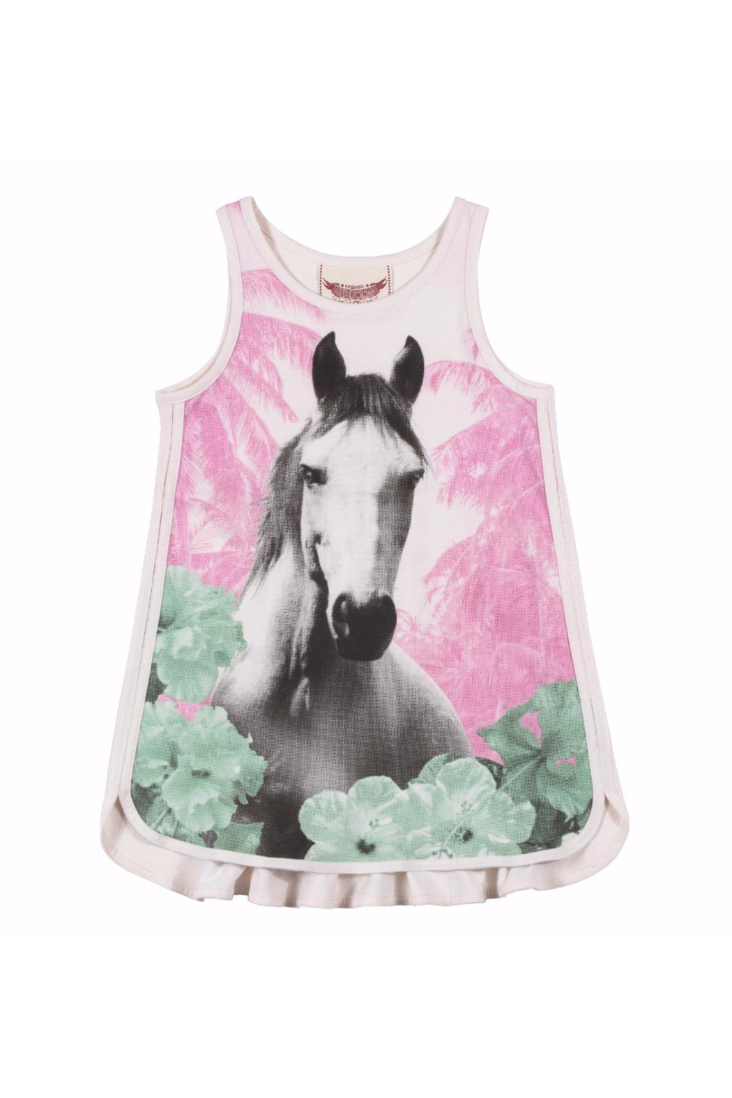 Paper Wings Jungle Horse Singlet Dress - Main Image