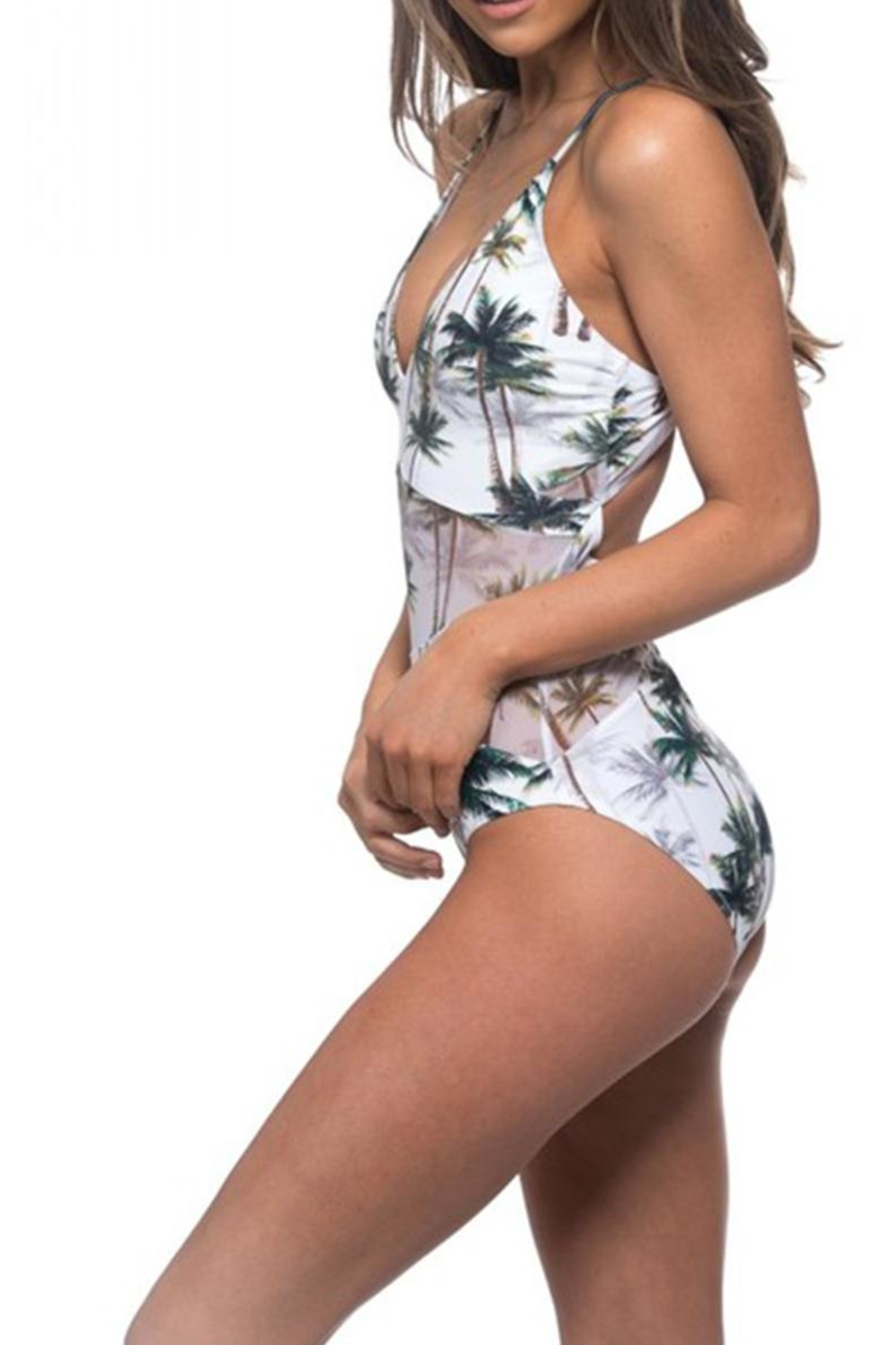 beach joy Jungle Mesh One-Piece - Front Full Image