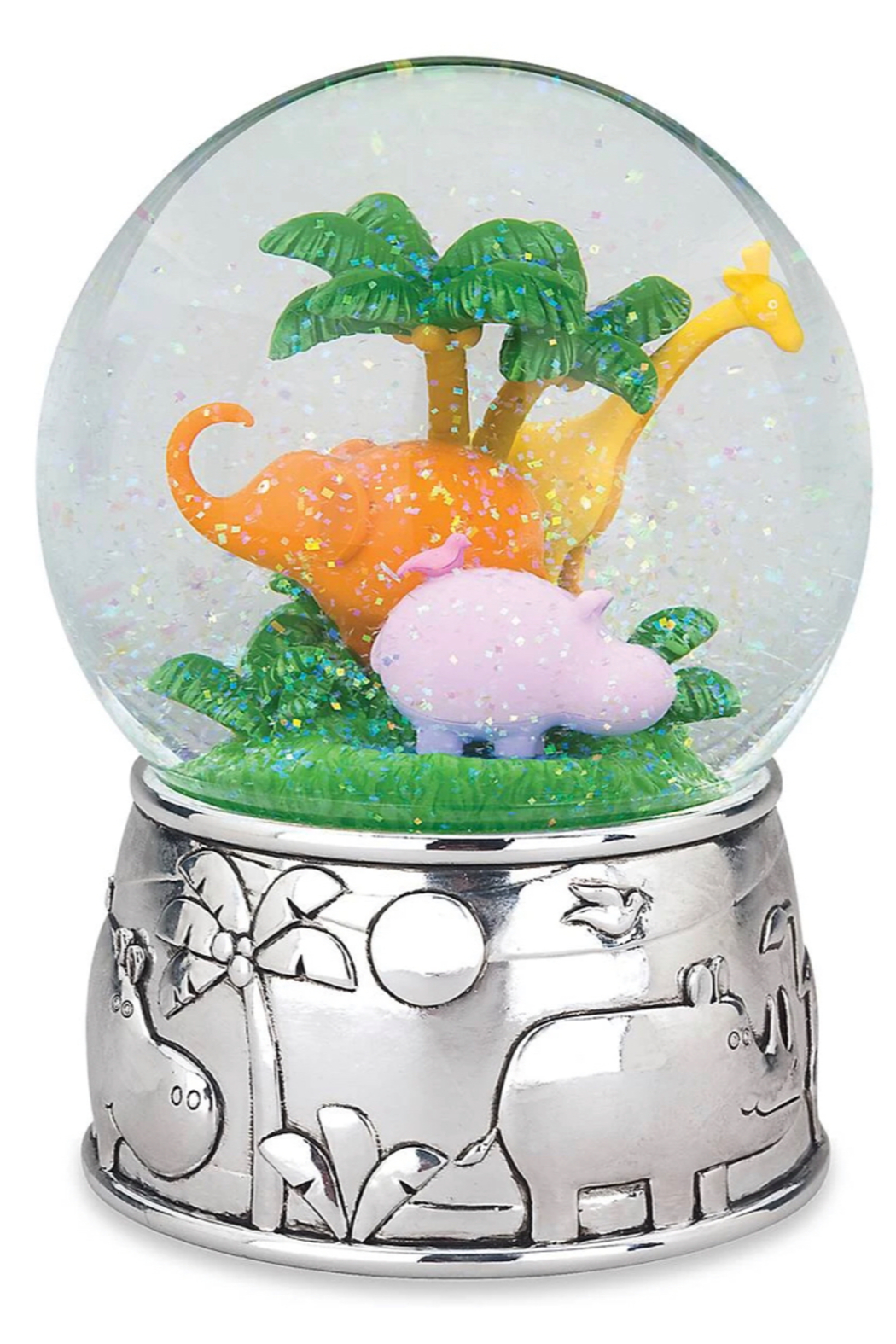 Reed & Barton Jungle Parade Musical Water Globe - Front Cropped Image