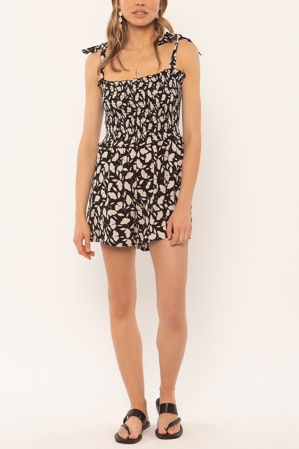 AMUSE SOCIETY Jungle Path Romper - Front Cropped Image