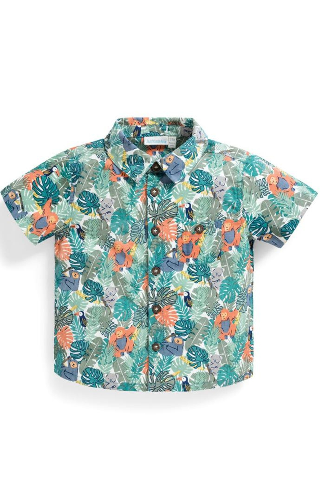 JoJo Maman Bebe Jungle Print Shirt - Main Image