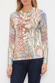 Whimsy Rose Jungle Warrior Butterknit Long Sleeve Crew Top - Product Mini Image